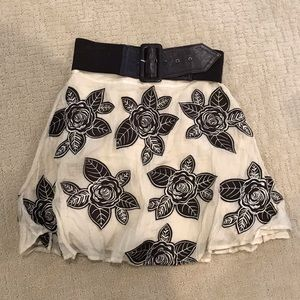 Alice and Olivia floral skirt with detachable belt